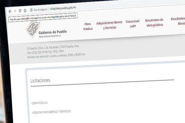Repetirá gobierno de Puebla todos sus procesos de compra