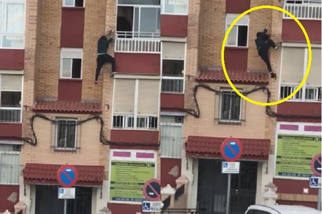 En España, mujer cae de un segundo piso por intentar escapar de cuarentena
