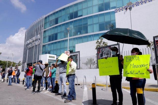 Se vuelve a manifestar Antorcha Campesina contra  Barbosa