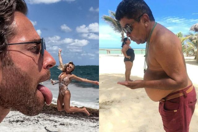 Le copian las fotos a Angelique Boyer y Sebastián Rulli y se hacen virales