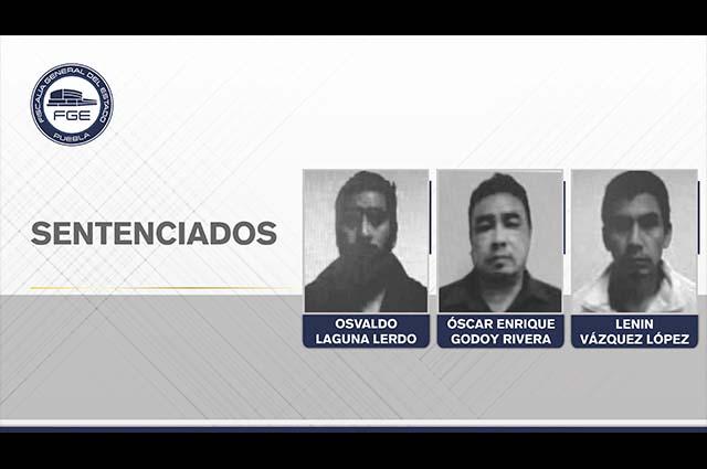 Suman 150 años de prisión sentencias a 3 secuestradores