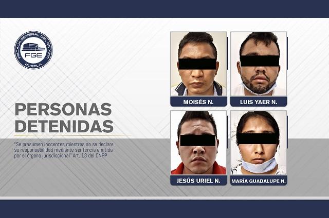 FGE rescató a joven secuestrado y detuvo a cuatro personas
