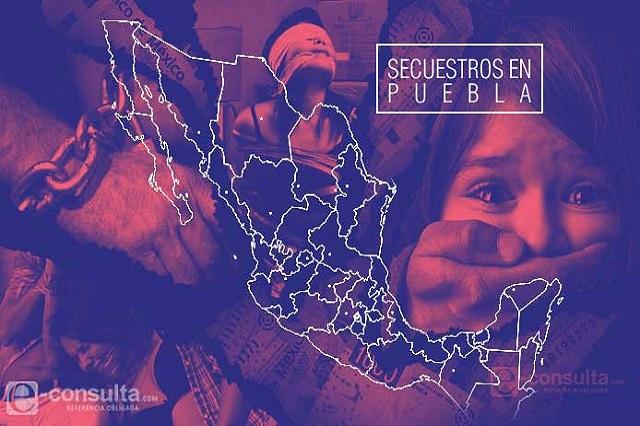 Documentan cuatro secuestros al mes en Puebla este 2016