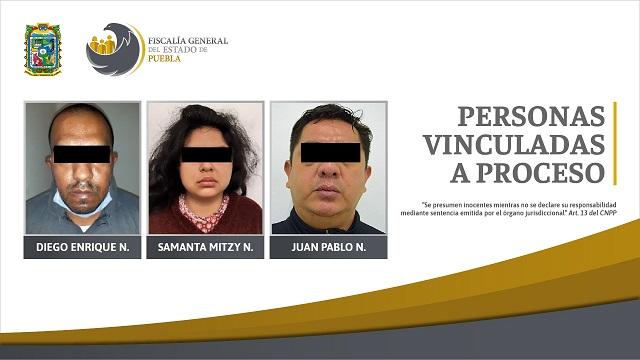 Secuestradores fueron detenidos y vinculados a proceso en Puebla