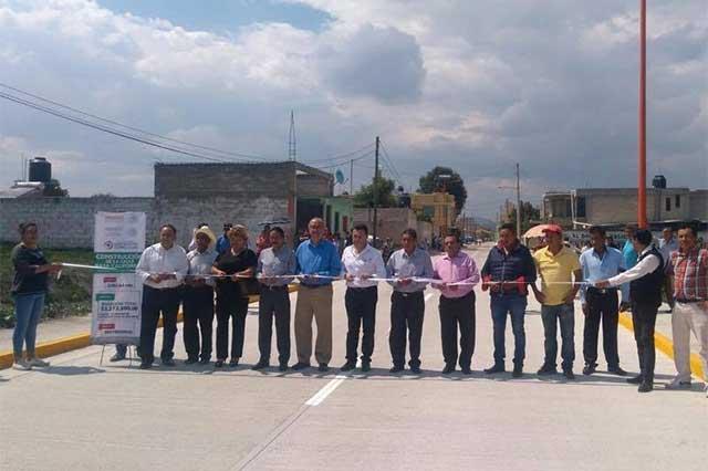 Invierten Sedatu y San Martín Texmelucan 11 mdp en vialidades