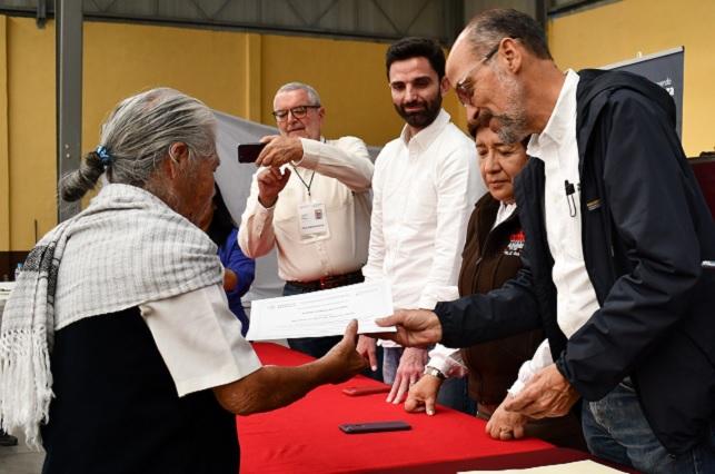 Sedatu entrega apoyo para reconstrucción de viviendas en Puebla