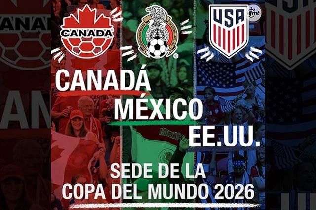 México será sede del Mundial 2026 con EU y Canadá