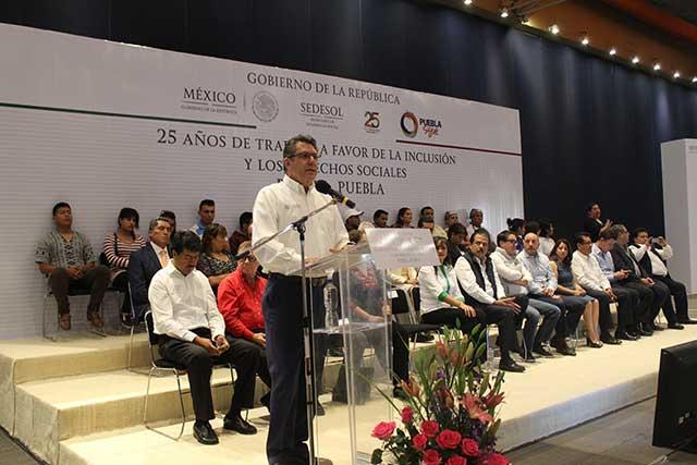 Conmemora Sedesol su 25 aniversario en Puebla