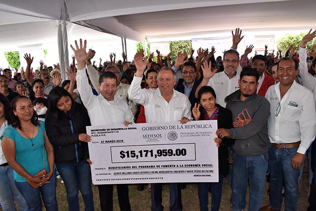 Entregó Sedesol 15 mdp para proyectos de economía social