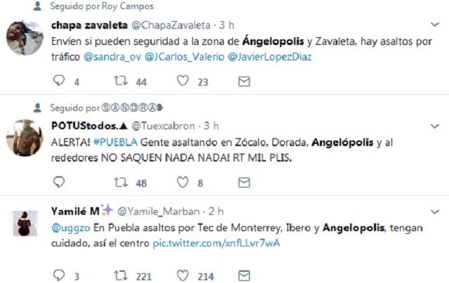 En WhatsApp y Twitter alertan asaltos en Angelópolis tras sismo; SSP lo niega