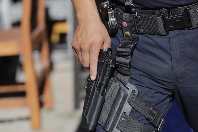 Registran balacera entre policías y delincuentes en Tepanco