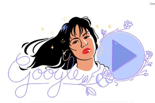 Google le rinde tributo a Selena con un Doodle musical