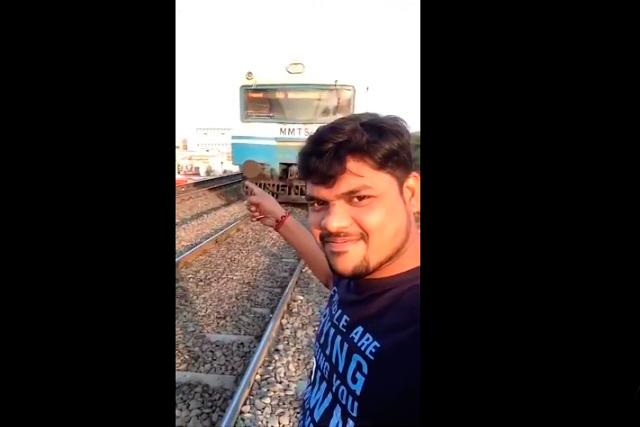 Video viral: Joven recibe brutal golpe de un tren por tomarse una selfie