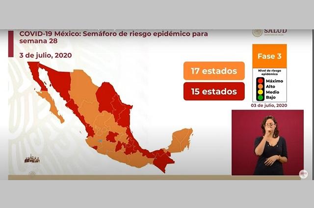Desbanca Puebla a Tabasco en tercer lugar con más contagios