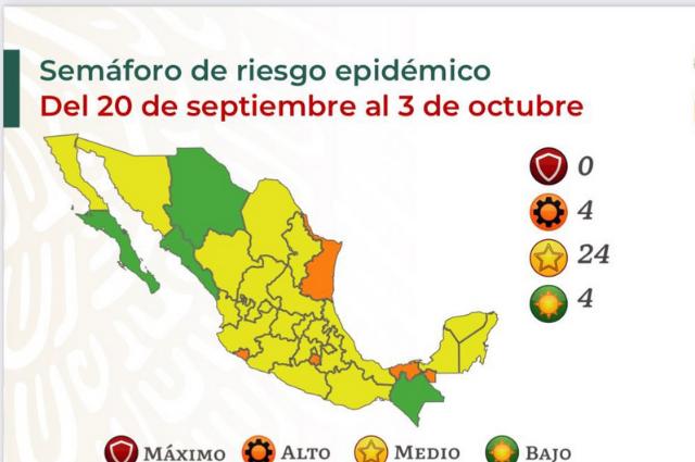 Puebla pasa a amarillo sin vacunas y con alerta de contagios