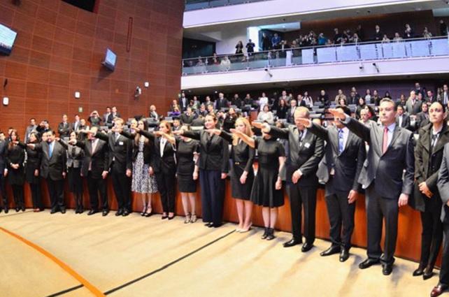 Senado toma protesta a Angélica Sandoval como magistrada de TEEP