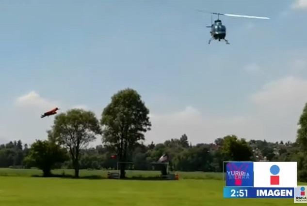 Una persona en coma tras caer helicóptero en El Señor de los Cielos