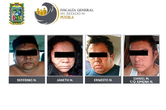 Dan 50 años de prisión a 4 secuestradores en Puebla