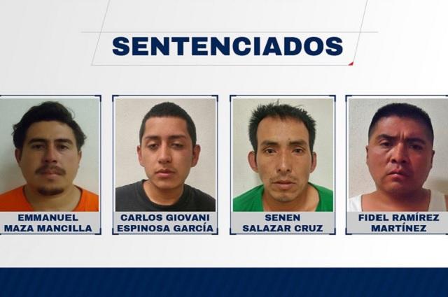 Sentencian a 4 de una banda de Puebla por homicidio y violación