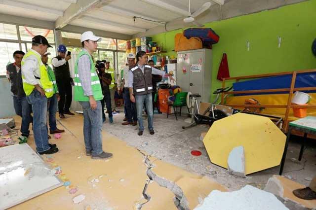 Con daño total, 53 escuelas de Puebla, revela censo de SEP