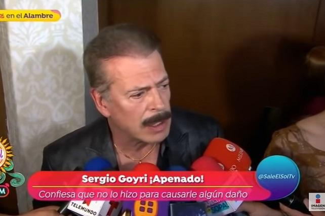Sergio Goyri dice que no es racista y tendrá cuidado de esto