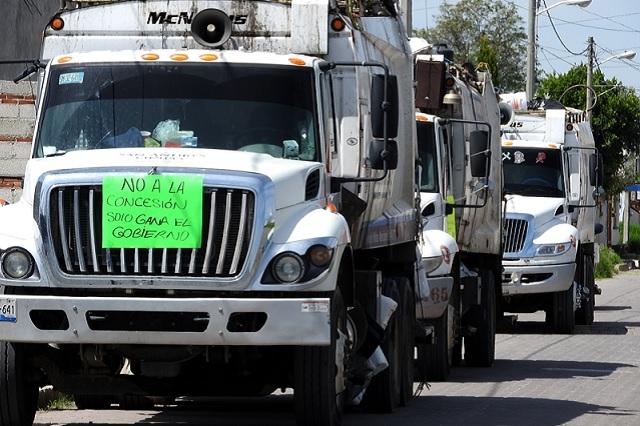 Revocan privatización de servicio de limpia en San Andrés Cholula