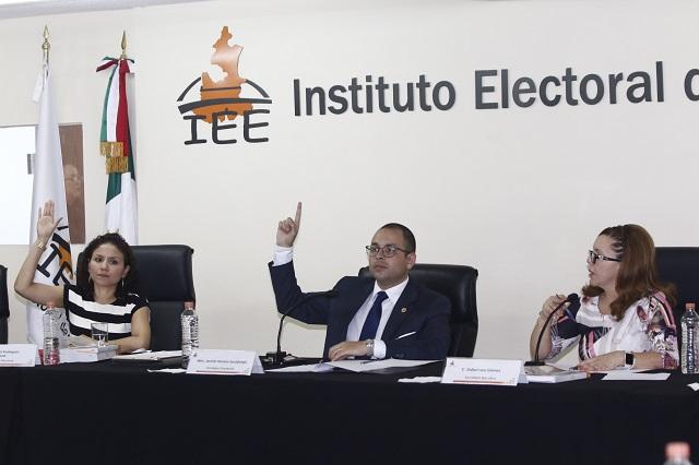 Remite IEE quejas de partidos 3 semanas después de cómputos