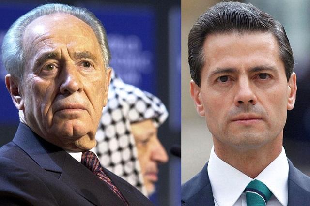 Llega Peña Nieto a Israel para asistir a los funerales de Estado de Shimon Peres