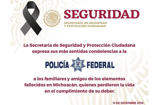 Sicarios emboscan y matan a 3 policías federales en Morelia
