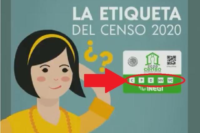 ¿Qué significan las letras en la etiqueta del Censo 2020?