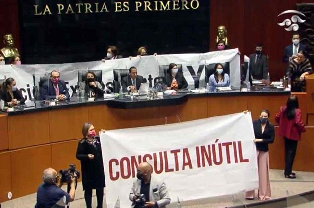 Senado aprueba consulta para llevar a juicio a expresidentes
