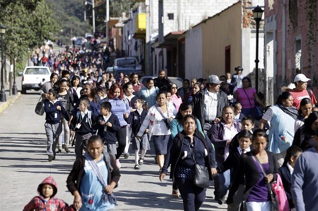 Puebla, único estado con simulacros por contingencia volcánica