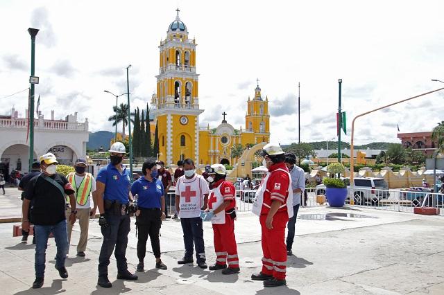 Escaso interés en simulacro de sismo en Puebla capital