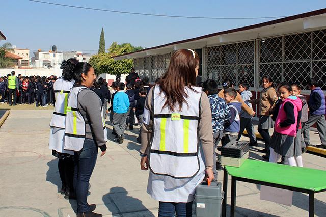 A través de simulacros, escuelas refuerzan medidas preventivas: SEP