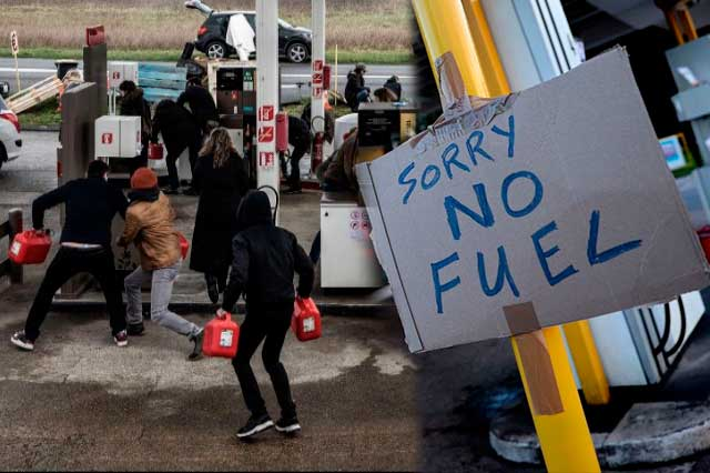 Militares británicos repartirán combustible a gasolineras