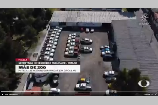 Exhiben a Puebla por pagar renta de 200 patrullas y no usarlas