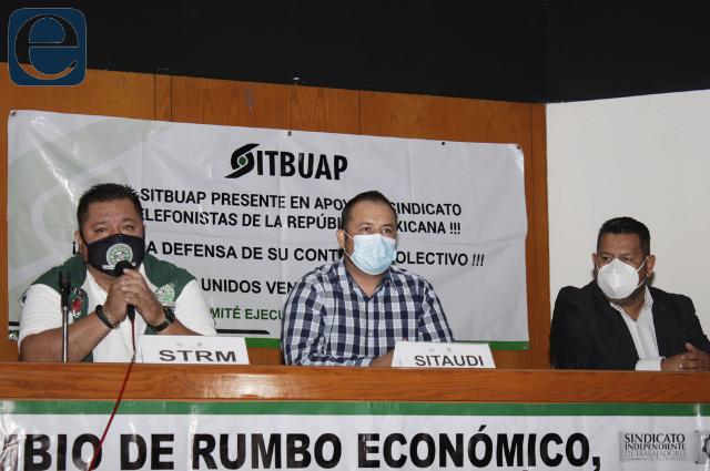 Convocan sindicatos de la UNT a marcha en Puebla el 1 de mayo