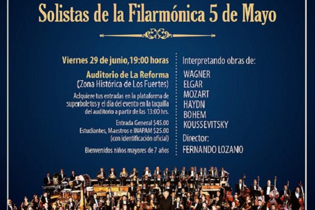 Concierto de solistas cierra semestre de Filarmónica 5 de Mayo