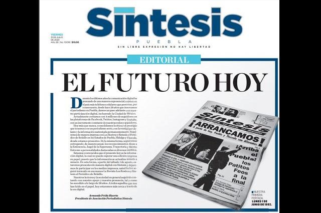 Se despide el periódico Síntesis Puebla en su versión impresa