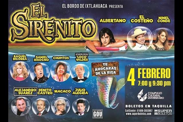 Albertano, El Costeño, Ninel Conde y Daniel Bisogno en el Sirenito