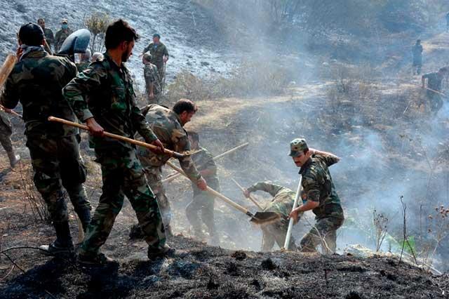 Ejecutan en Siria a 24 por provocar incendios forestales