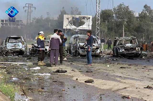 Aumenta a 100 el número de muertos por ataque suicida en Siria