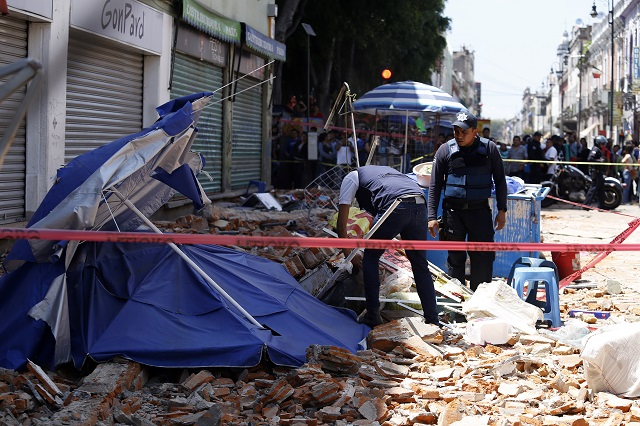 Puebla, una ciudad que empezó a caerse a pedazos por el sismo