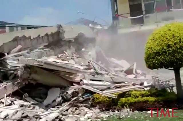 Difunden video del drama que se vivió en el Colegio Rébsamen por sismo