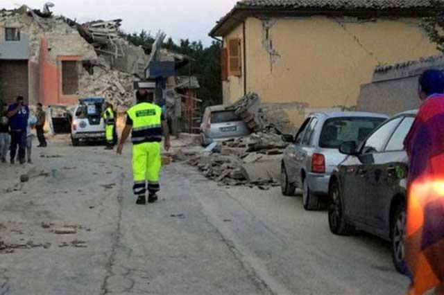 Sismo de 6 grados Richter destruye la localidad italiana de Amatrice