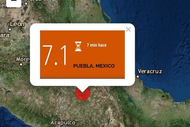 Se siente en Morelia sismo de magnitud 6.8 en Puebla