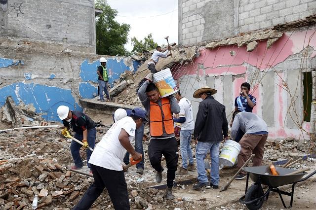 Queda corto dinero del Fonden para reconstruir casas en Puebla