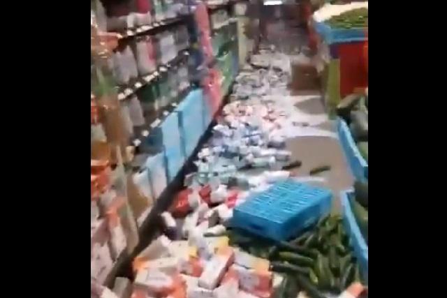 Video: Chedraui en Huatulco es sacudido por sismo y queda en caos