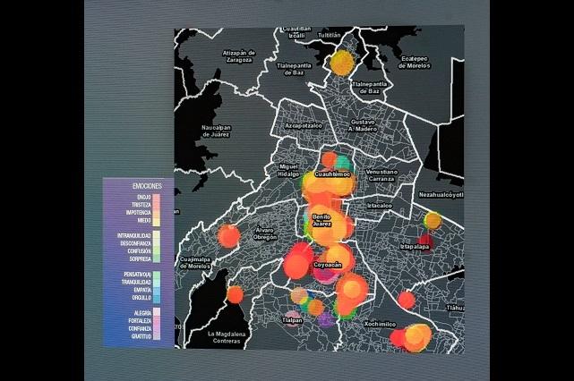 Resumen en mapas experiencias de brigadistas del sismo del 19S