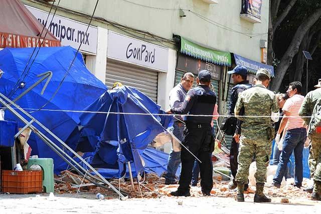 Fotos y videos  tras sismo que cimbró la ciudad de Puebla